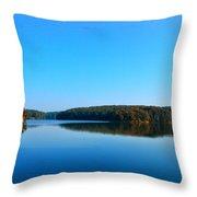 Autumn Moon At Argyle Lake Throw Pillow