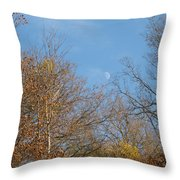 Autumn Moonrise Throw Pillow