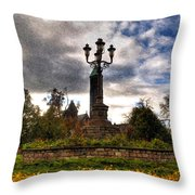 Autumn Morning At Symphony Circle V2 Throw Pillow