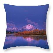 Autumn Morning Grand Tetons National Park Wyoming Throw Pillow