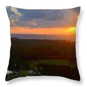 Autumn Morning Over Wailua Throw Pillow