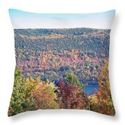 Autumn Mountain Throw Pillow