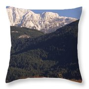 Autumn Snowcapped Mountain - Golden Ears - British Columbia Throw Pillow