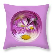 Autumn Mum Orb Abstract Throw Pillow