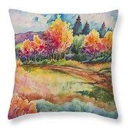 Autumn Near Taos Throw Pillow