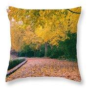 Autumn - New York City - Fort Tryon Park Throw Pillow