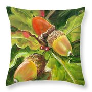 Autumn Oak Throw Pillow
