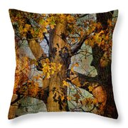 Autumn Oaks In Dance Mode Throw Pillow