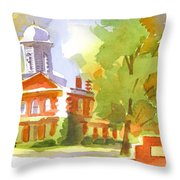 Autumn Observations Watercolor Throw Pillow