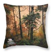 Autumn On Cannock Chase Throw Pillow