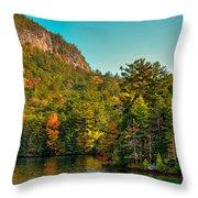 Autumn On Lake George Throw Pillow