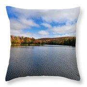 Autumn On Lake Plumbago Throw Pillow