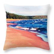 Autumn On Lake Superior Throw Pillow