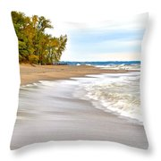 Autumn On The Beach Throw Pillow