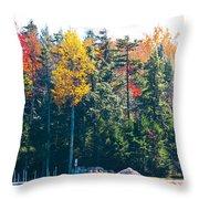 Autumn On The Fulton Chain Of Lakes In The Adirondacks II Throw Pillow