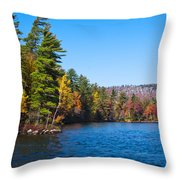 Autumn On The Fulton Chain Of Lakes In The Adirondacks IIi Throw Pillow