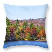 Autumn On The Fulton Chain Of Lakes In The Adirondacks Iv Throw Pillow
