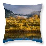Autumn On The Klamath 1 Throw Pillow