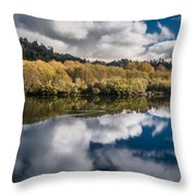 Autumn On The Klamath 11 Throw Pillow