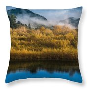 Autumn On The Klamath 5 Throw Pillow