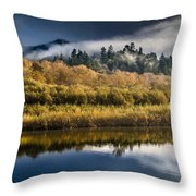 Autumn On The Klamath 6 Throw Pillow