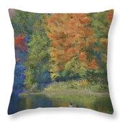 Autumn On The Lake Throw Pillow