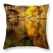 Autumn On Ullswater Throw Pillow