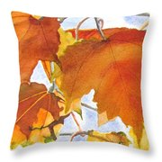 Autumn Outside My Window Throw Pillow