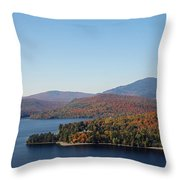 Autumn Over Moosehead Lake Throw Pillow