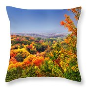 Autumn Over The Rolling Hills Throw Pillow