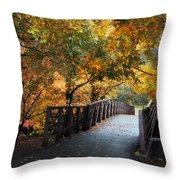 Autumn Overpass Throw Pillow