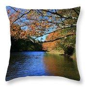 Autumn Paddle On The Quinnebaug  Throw Pillow