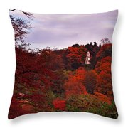 Autumn Pagoda Throw Pillow
