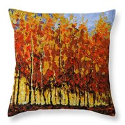 Autumn Palette Throw Pillow by Vickie Warner