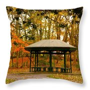Autumn Paradise Throw Pillow