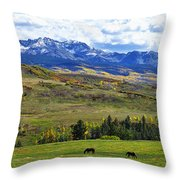 Autumn Pastural Setting Throw Pillow