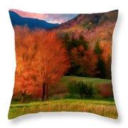 Autumn Pasture Throw Pillow