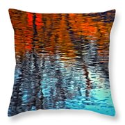 Autumn Patterns Throw Pillow