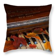 Autumn Piano 1 Throw Pillow