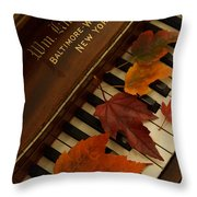 Autumn Piano 11 Throw Pillow