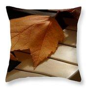 Autumn Piano 12 Throw Pillow