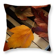 Autumn Piano 2 Throw Pillow