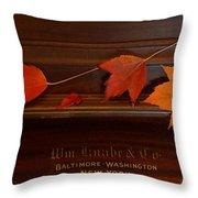 Autumn Piano 3 Throw Pillow