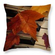 Autumn Piano 6 Throw Pillow