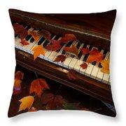 Autumn Piano 7 Throw Pillow