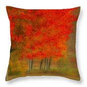 Autumn Popping Throw Pillow