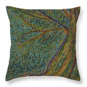 Autumn Rain Tree Throw Pillow