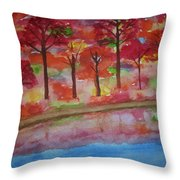 Autumn Reflection Throw Pillow