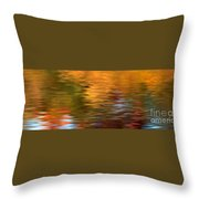 Autumn Reflections In Pond Throw Pillow