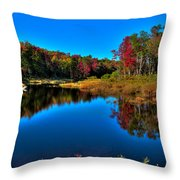 Autumn Reflections In The Adirondacks Throw Pillow